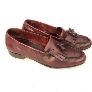 Vintage Ferragamo Men's Leather Loafers 8.5 Merlot